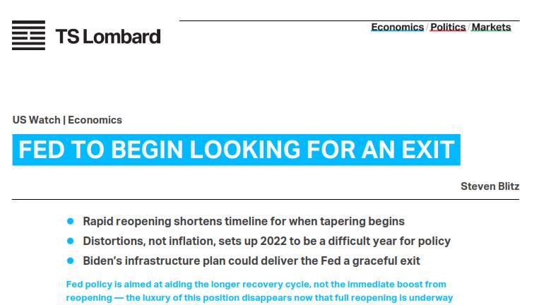 Fed - Steven Blitz report