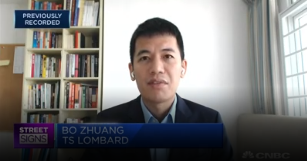 Bo Zhuang, TS Lombard CNBC interview